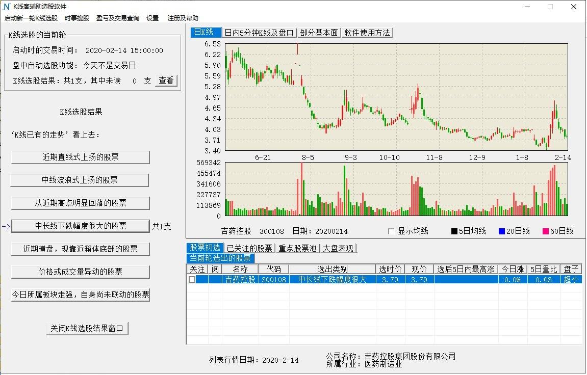 K线客选股软件截图1