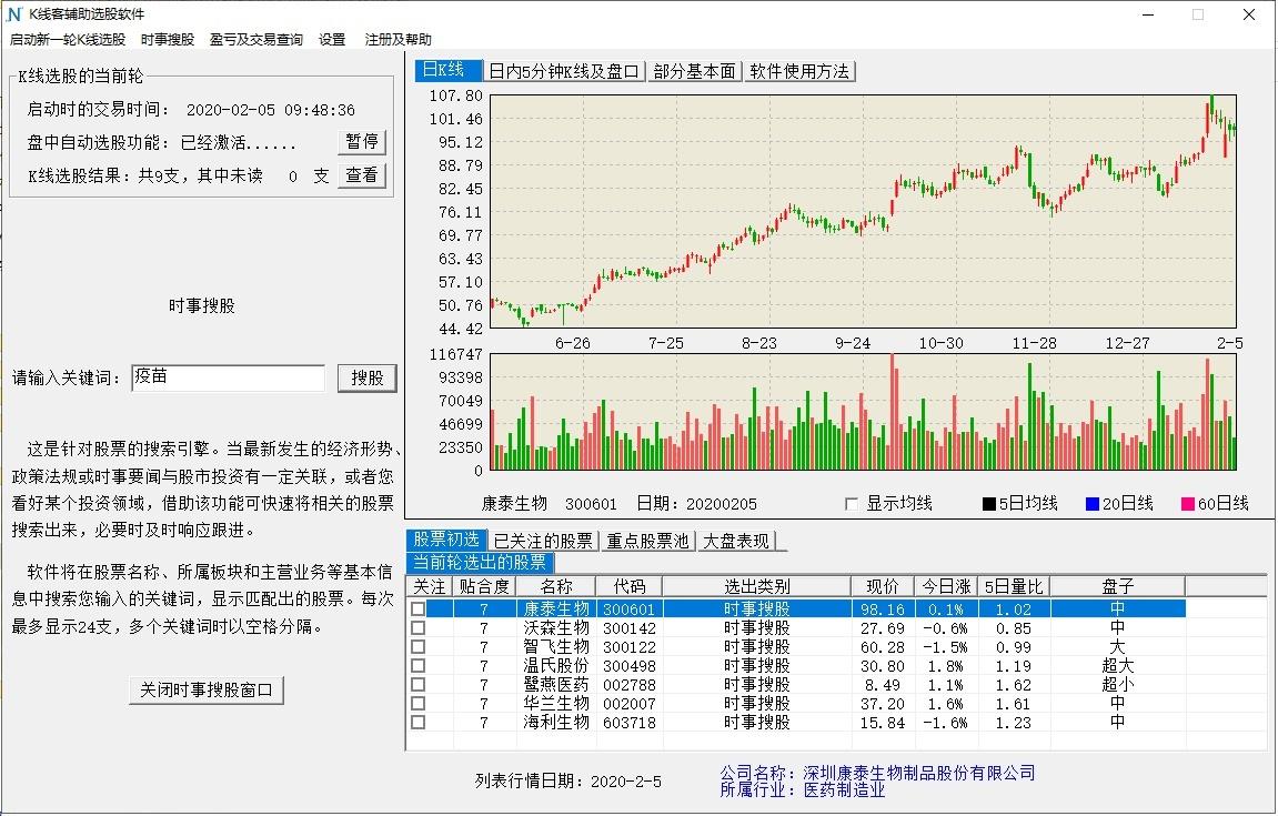 K线客选股软件截图2
