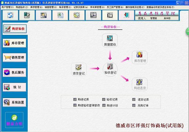 德易力明灯具销售管理系统SQL版截图1