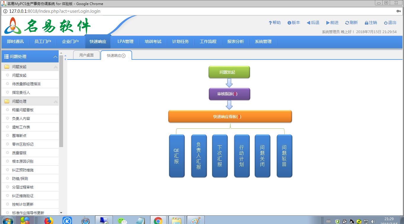 名易MyPCS生产事务协调系统截图2