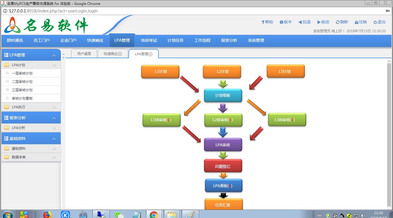 名易MyPCS生产事务协调系统截图3