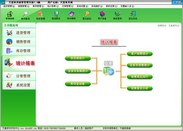 天意家具销售管理系统截图4