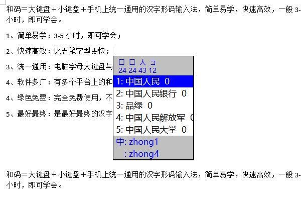 和码汉字输入法截图1
