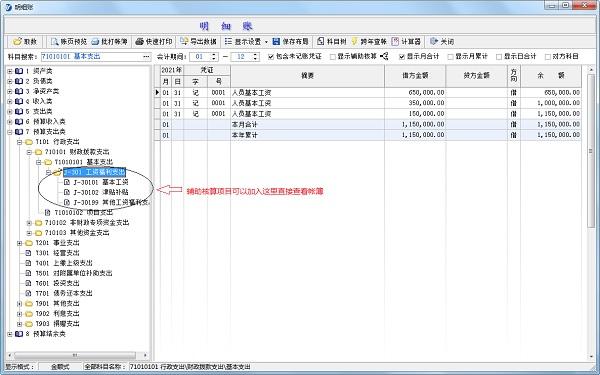 易用账务处理系统(政府会计版)截图