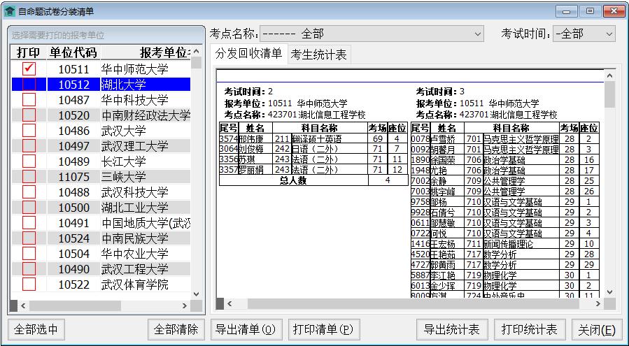 硕士研究生招生考试考务管理系统