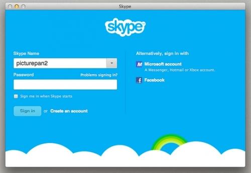 Skype截图