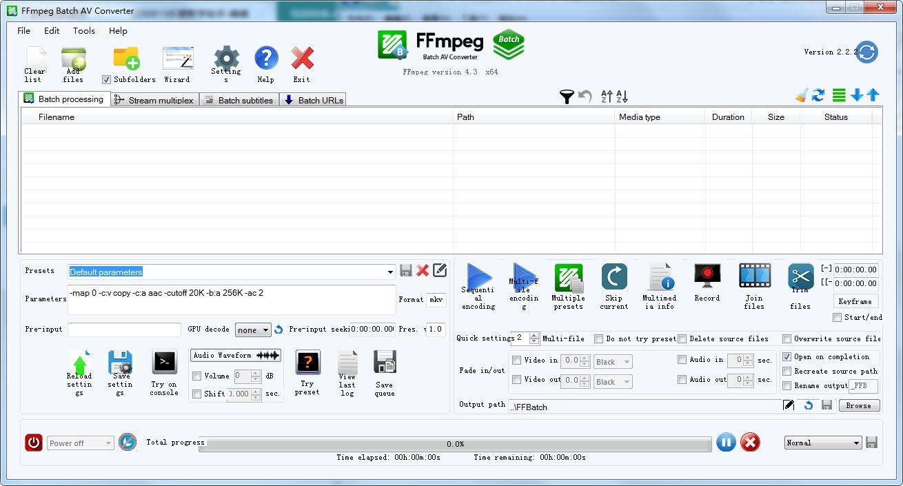 FFmpeg Batch AV Converter