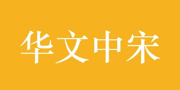 华文中宋字体截图
