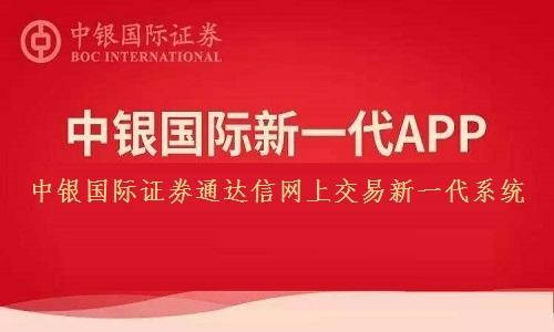 中银国际证券通达信网上交易新一代系统截图