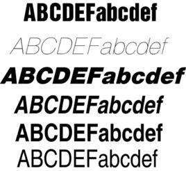 Helvetica字体截图