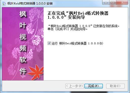 枫叶Xvid格式转换器截图