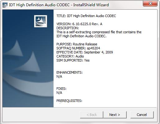 HP惠普 Compaq Presario CQ35-223TX笔记本声卡驱动截图