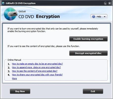 GiliSoft CD DVD Encryption截图