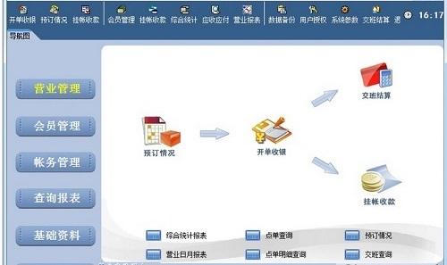 易达茶楼管理软件截图1