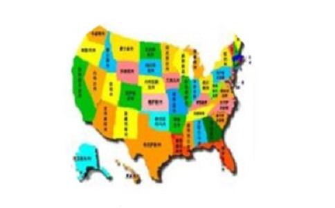 美国地图中文版全图段首LOGO