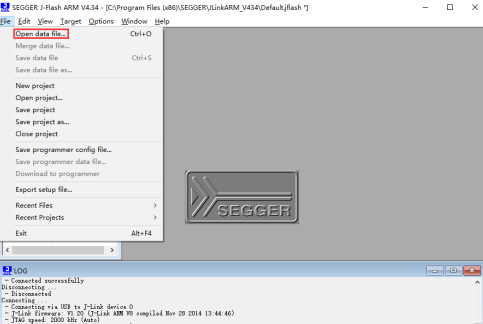 jlink驱动下载(SEGGER J-FlASH ARM)截图
