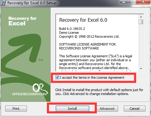 Recovery for Excel截图
