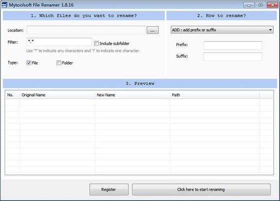 Mytoolsoft File Renamer截图1