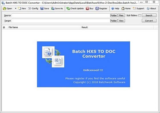 Batch HXS TO DOC Converter截图1