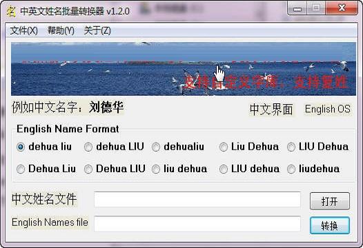 中英文姓名批量转换器截图1