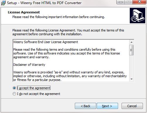 Weeny Free HTML to PDF Converter截图