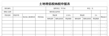 土地增值税纳税申报表截图1