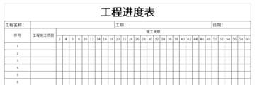 工程进度表截图1