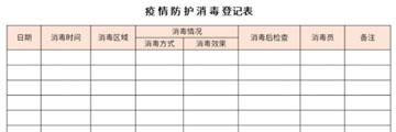 疫情防护消毒登记表截图1