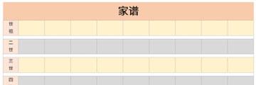 家谱表截图1