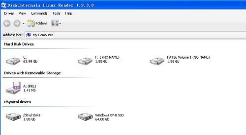 Linux Reader(查看Linux硬盘分区)截图