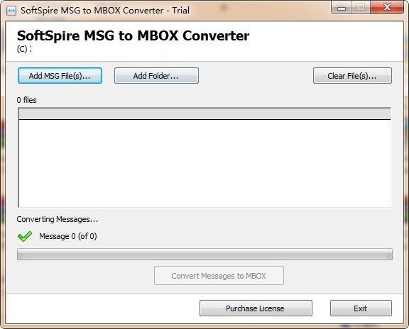 SoftSpire MSG to MBOX Converter截图1