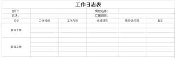 工作日志表截图1
