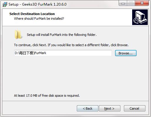 显卡烤机软件Furmark截图