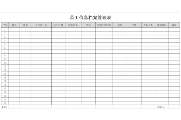 员工档案管理表截图1