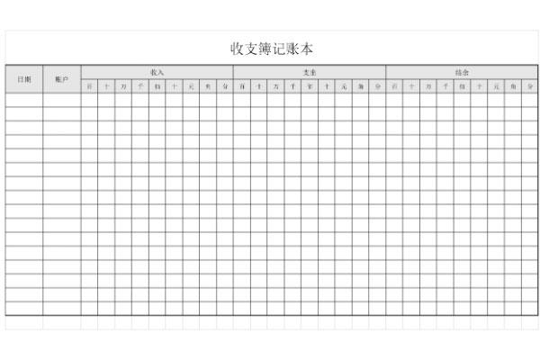 收支记账表截图1