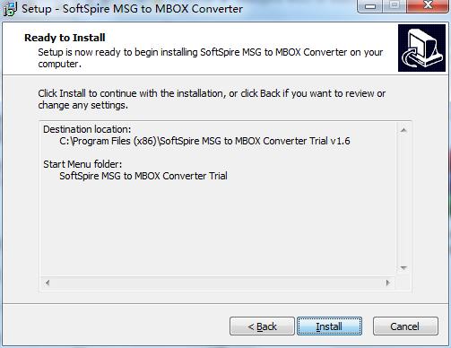 SoftSpire MSG to MBOX Converter截图