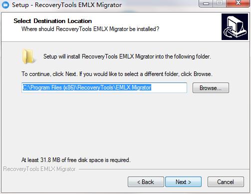 RecoveryTools EMLX Migrator截图