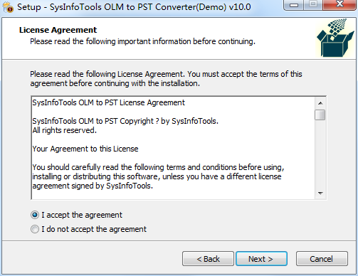 SysInfoTools OLM to PST Converter截图