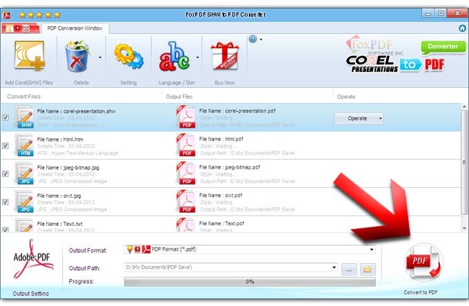 FoxPDF SHW to PDF Converter截图