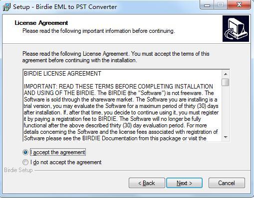 BIRDIE EML to PST Converter截图