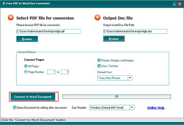 PDF to Word Doc Converter截图