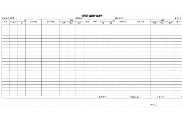 财政票据使用情况表截图1
