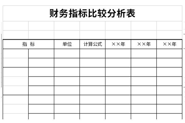 财务指标比较分析表截图1