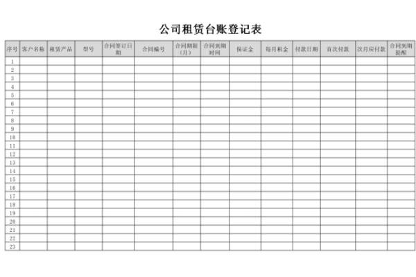 公司租赁台账截图1