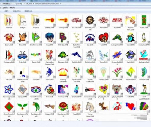 电脑绣花花样缩略图查看工具截图