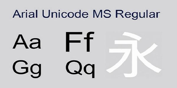 Arial unicode ms字体截图