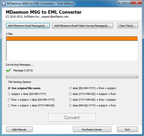 MDaemon MSG to EML Converter截图1