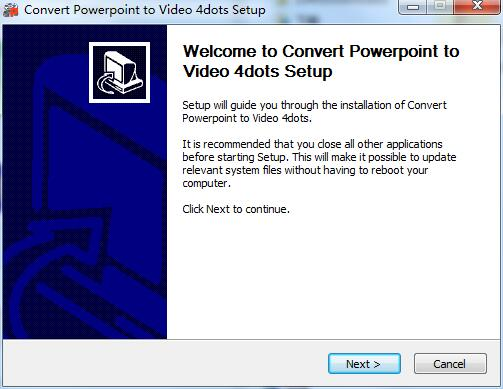Convert Powerpoint to Video 4dots截图