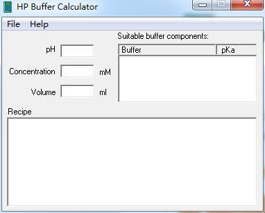 HP Buffer Calculator截图1