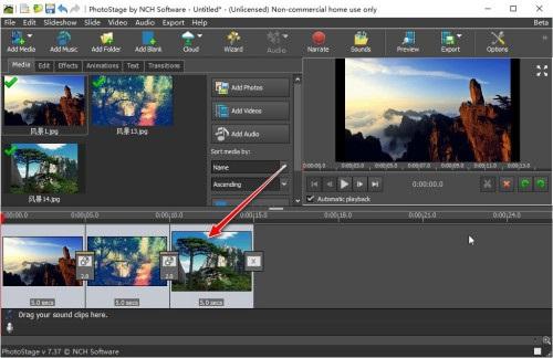 NCH PhotoStage电子相册幻灯片制作软件截图